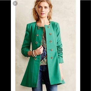 ⬇️Anthropologie Parker Peacoat - Green - Size 12